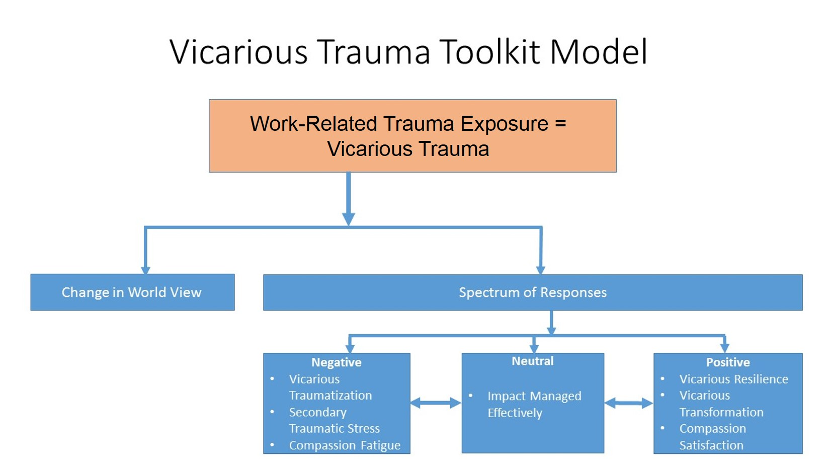 Vicarious Trauma Toolkit Model