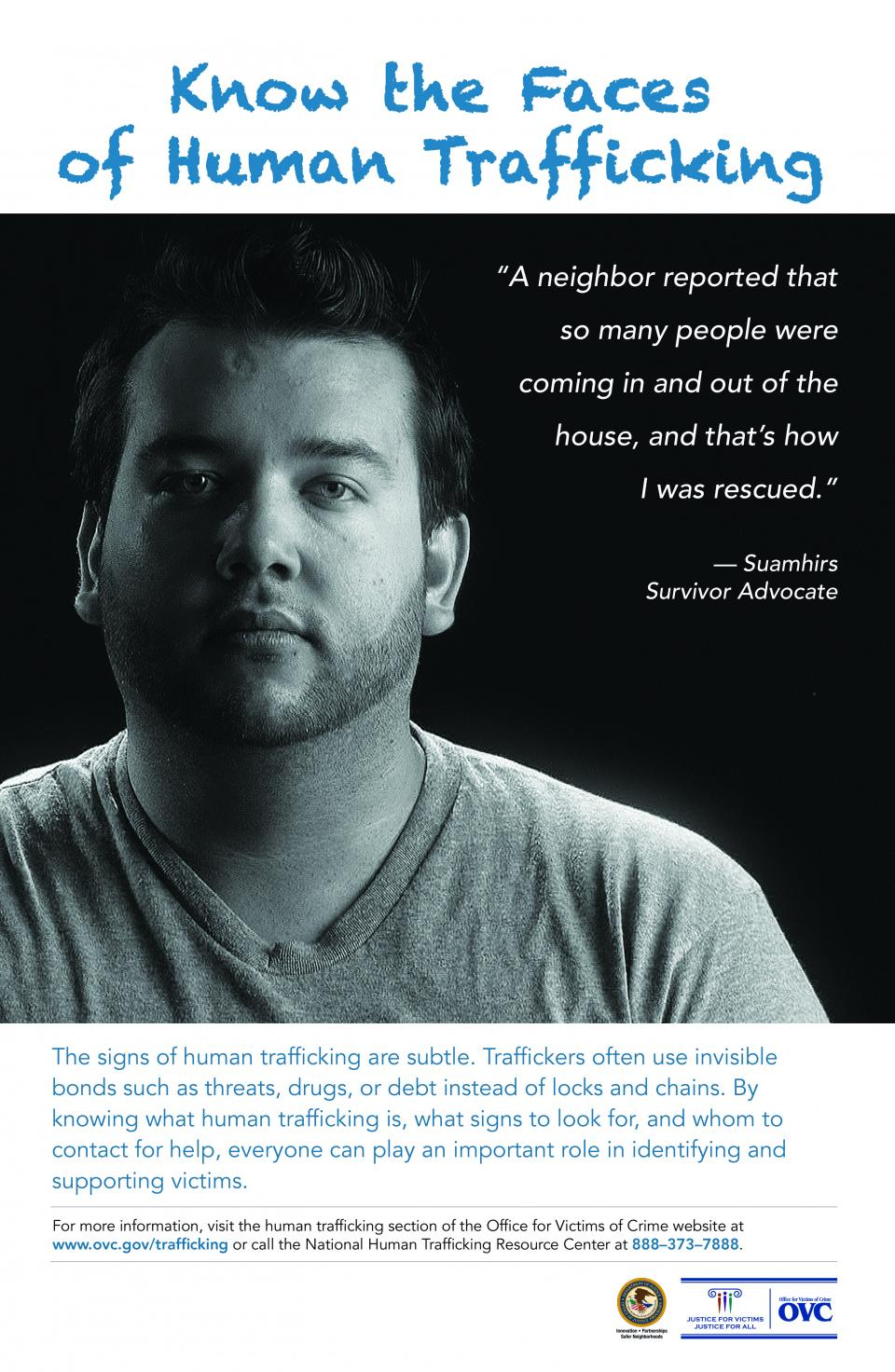 Faces of Human Trafficking Poster for the General Public